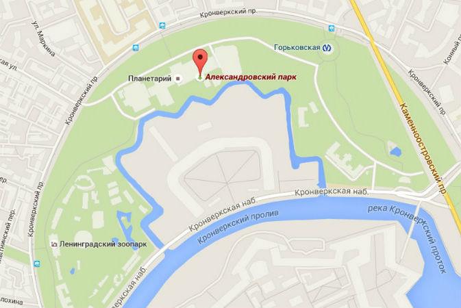 александровский сад москва гугл карты Северной Осетии-Алании