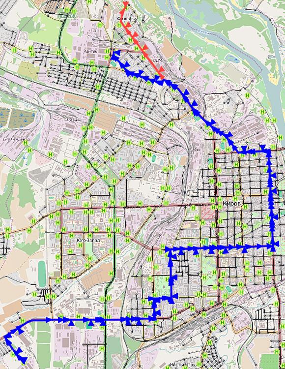Схемы движения автобусов кирово-чепецке