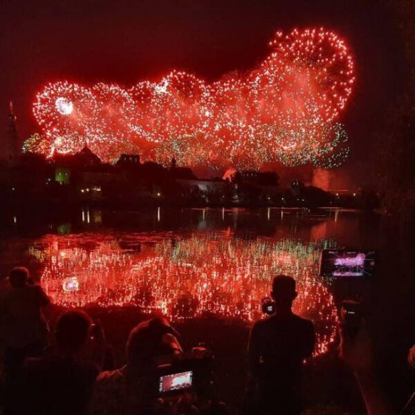 Салют на День Победы в Измайловском парке