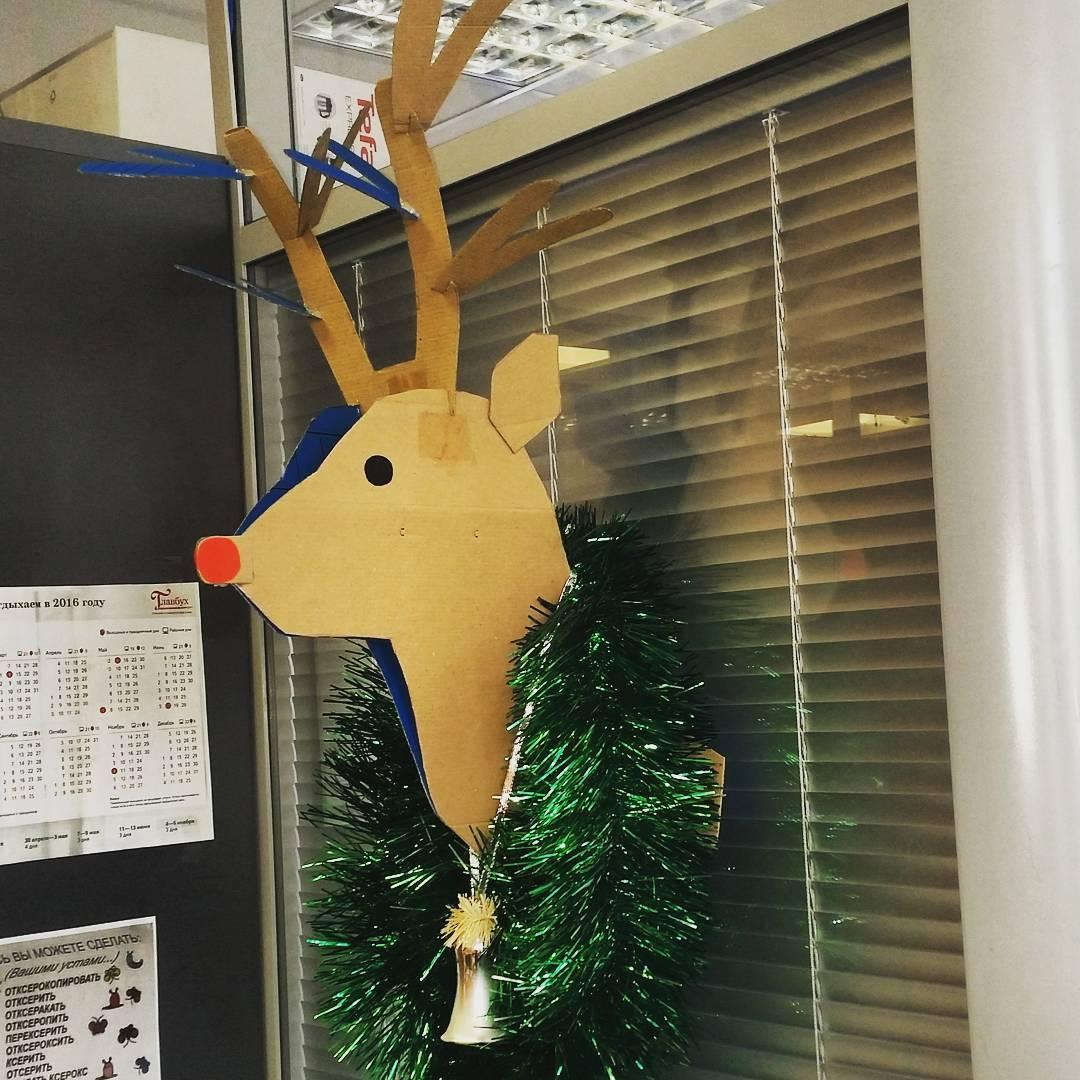 Оформление офиса на новый год своими руками фото 474