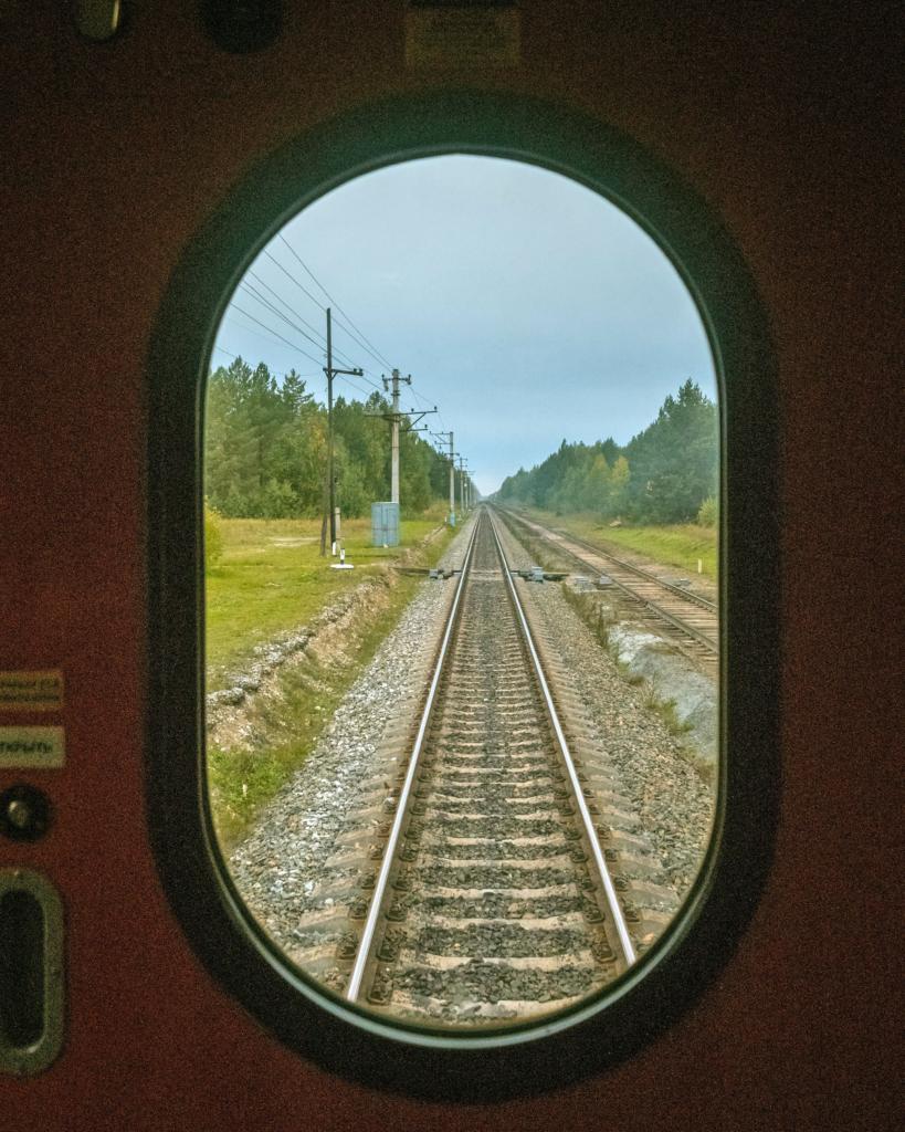 окно поезда