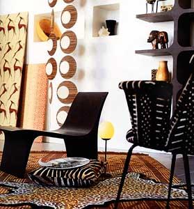 на фото: элементы декора в африканском стиле.