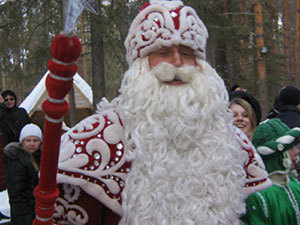 Дед Мороз осваивает Интернет.