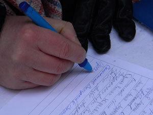 На митинге помимо денег собирали подписи в поддержку