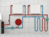 4) Мембранный бак.  3) индукционный котел.  Классическая система отопления.