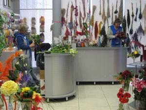 Торговля цветами.