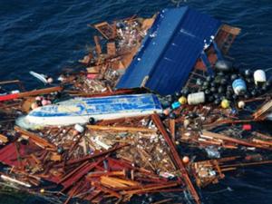 Японский мусор поплыл быстрее