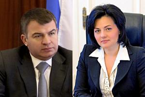 Министр обороны РФ Анатолий Сердюков и один из его заместителей Татьяна Шевцова – оба экономисты