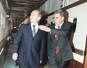 В «Комсомолку» приехал Путин