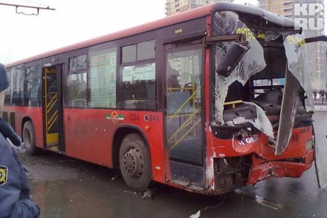 В Казани автобус без тормозов