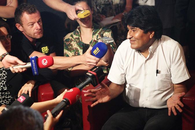 Самолет президента Боливии приземлился в столице страны Ла-Пасе