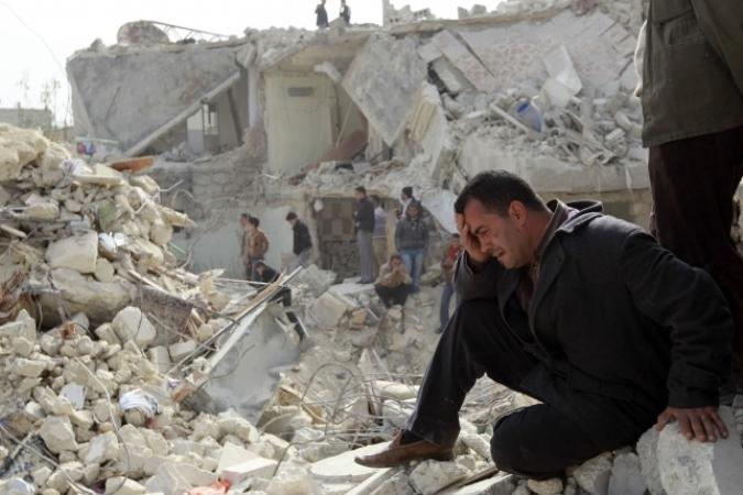 Сирийские повстанцы обстреляли из