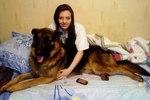 Немецкая овчарка из Рязанской области встретилась с хозяйкой через полтора года разлуки