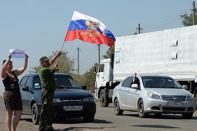 Российский гуманитарный конвой без сучка и задоринки выполнил свою миссию: быстро, грамотно выбранным маршрутом прибыл в Луганск | Фото: РИА Новости