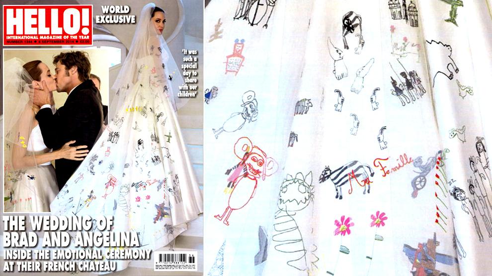 Платье с рисунками детей