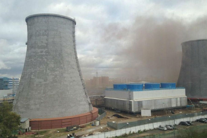 На московской ТЭЦ в районе