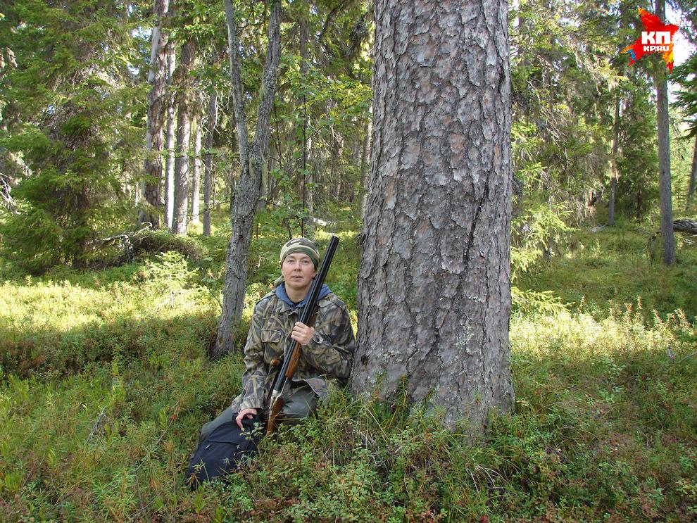 Людмила на охоте.