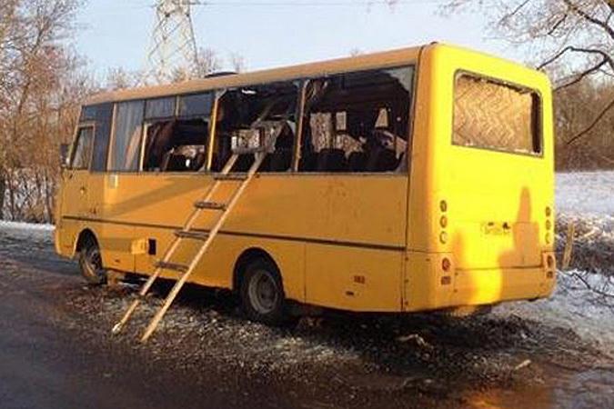Автобус под Волновахой