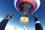 Белгородские воздухоплаватели и парашютисты в честь 23 февраля вместе покорили небо