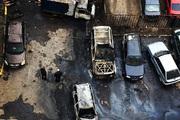 В Москве по принципу домино сгорели 10 машин