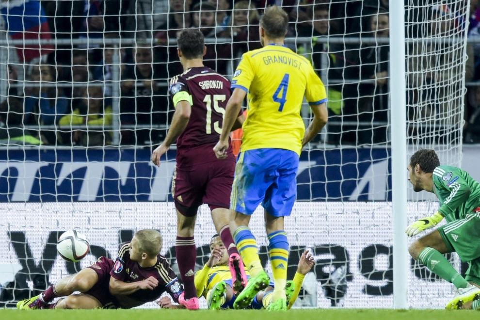 Самые яркие моменты матча Россия - Швеция