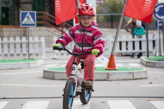 В Перми в Парке Горького проводили детские велогонки