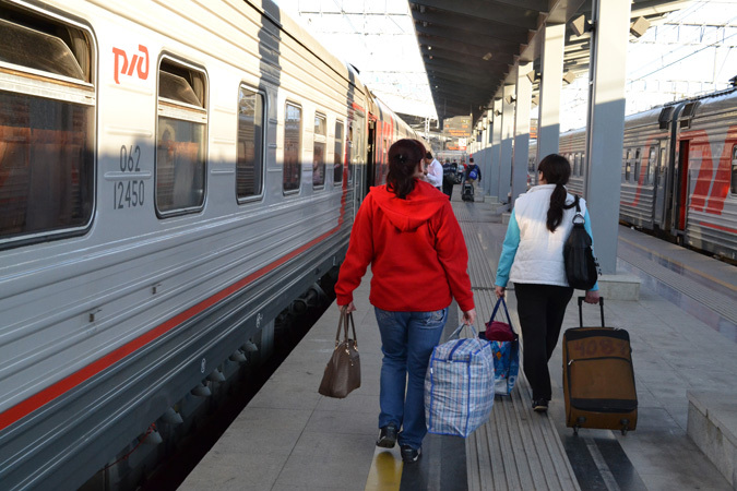 В поезде Москва-Адлер можно