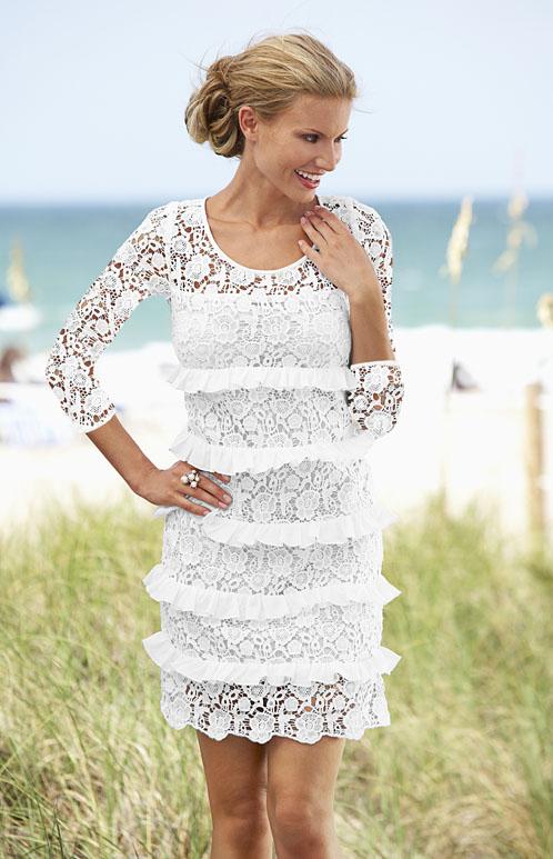 Романтичное кружевное платье для истинной леди.  Многослойный эффект.