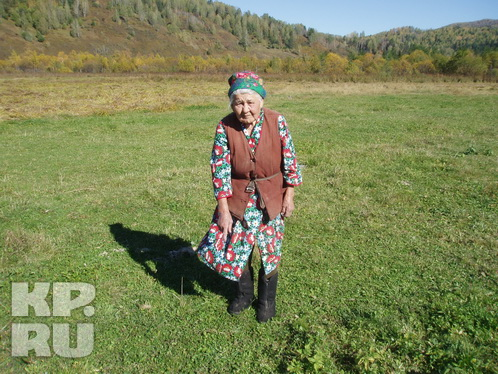 Бабушка Рая осмелилась сходить на место, где стояла и видела йети, через сутки