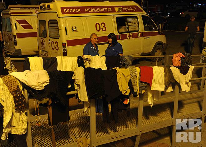 Одежда для пострадавших, собранная горожанами