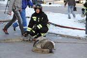 Пожарные учатся тушить благовещенский ОКЦ