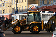 Обрыв контактных сетей в Барнауле