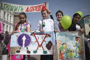 В Ставрополе дети собрались на акцию против лихачей на дорогах