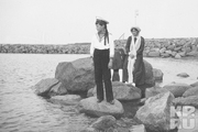 1913 год. У берегов Финляндии. Алексей с сестрами Ольгой и Татьяной.