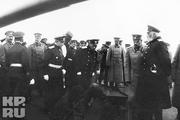 1915 год. Севастополь. Государь на линкоре «Георгий Победоносец».
