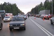 В Петушинском районе старый «Москвич» протаранил пять иномарок