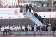 Прибытие парусника седов в Санкт-Петербург из кругосветного плаванья