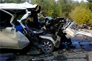 Страшное ДТП в Бурятии: 6 пассажиров маршрутки погибли после столкновения с Камазом