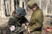 Советские солдаты снова освободили Краснодар от немецких оккупантов