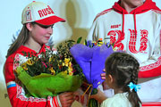 Олимпийская сборная России прилетела из Сочи в Москву
