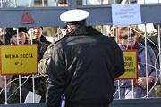 В Феодосии заблокировали батальон морской пехоты ВМС Украины