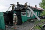 В Барнауле на улице Аванесова произошел пожар (май 2014 год)