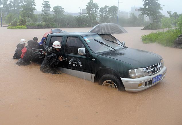 Ливневые дожди затопили центральную