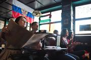 Воронежцы смотрели футбольный матч чемпионата мира между командами России и Бельгии
