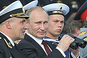Владимир Путин поздравил российских моряков с Днем ВМФ в заполярном Североморске