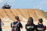 На полигоне в Алабино прошли заезды первого чемпионата мира по танковому биатлону