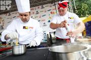 Кулинарное шоу в парке Горького