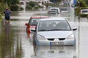 Ливни, не прекращающиеся в Швеции более суток, вызвали наводнение