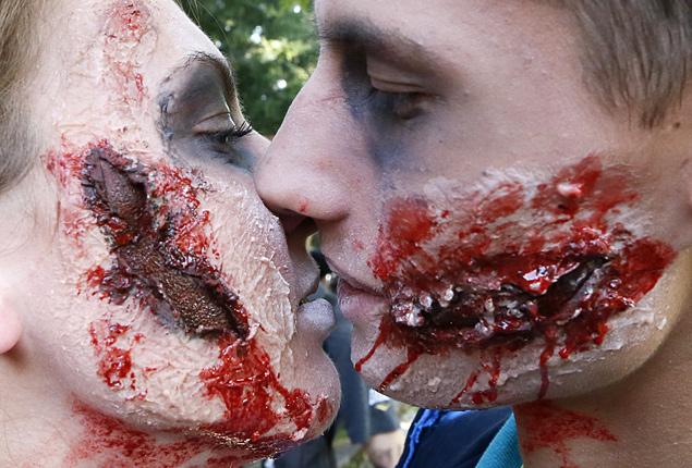 Парад зомби прошел в последний день лета в Красноярске
