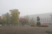 Барнаул окутал туман (22 сентября 2014 год)